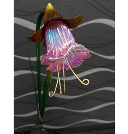 SOLAR GLASS FLOWER GARDEN STAKE