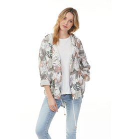 CHARLIE B HOODED OPEN FRONT JACKET
