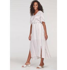 TRIBAL HIGH LOW SMOCKED  DRESS
