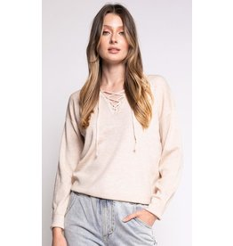 PINK MARTINI THE KNOT BEIGE SWEATER