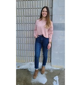 RD STYLE COLLARED PINK TOP