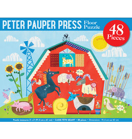 PETER PAUPER PRESS FLOOR PUZZLE ON THE FARM