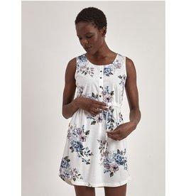 MOTION WHITE FLORAL TANK DRESS
