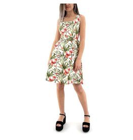 ANGEL EYE TRUDY FLORAL BELTED DRESS