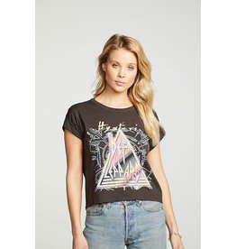 CHASER DEF LEPPARD ROLL SLV BOXY TEE