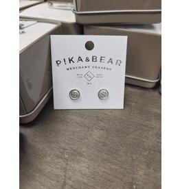 PIKA & BEAR NOTION BUTTON EARRINGS