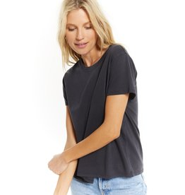 Z SUPPLY ORGANIC COTTON WASHED BLACK TEE