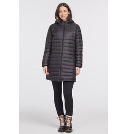 TRIBAL PACKABLE HOODED PUFFER JACKET
