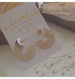 PIKA & BEAR LO-FI HOOP EARRINGS