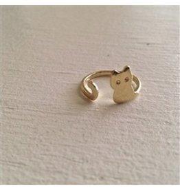PIKA & BEAR MONTY GOLD CAT RING