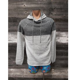 HEDGE MENS HOODED KNIT SWEATER
