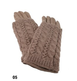 GRAND INT'L CABLE KNIT TOUCH SCREEN GLOVE