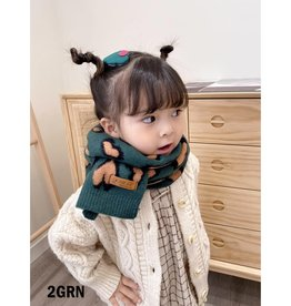 GRAND INT'L KIDS HEART PATTERED SCARF
