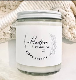 HUDSON CANDLE CO. 8oz FALL SCENTED SOY CANDLE