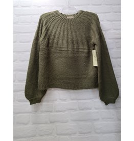 RD STYLE BURNT OLIVE CREW NECK SWEATER