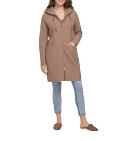 TRIBAL FAWN HOODED COAT