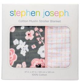 STEPHEN JOSEPH MUSLIN STROLLER BLANKET