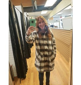 RD STYLE COPPER PLAID COLLARED SHACKET