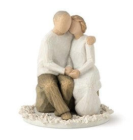 WILLOW TREE ANNIVERSARY CAKE TOPPER