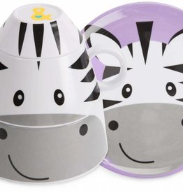 IZZY & OWIE 4pc STACKABLE DINNER SET