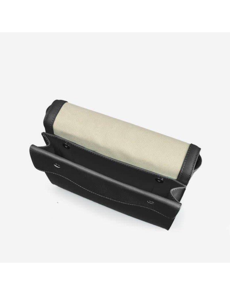 PINKSTIX CANVAS SHOULDER BAG BLACK
