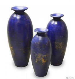 DOWN THE BEATEN PATH VASE BULE SMALL