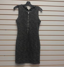 APRICOT FRONT ZIP DRESS