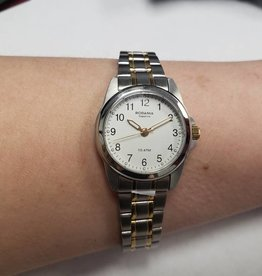WHITE FACED 2 TONE WATCH