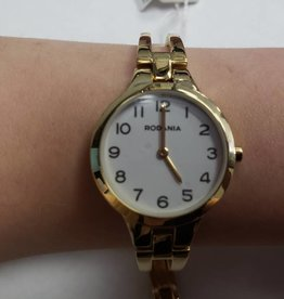 WHITE FACE WITH GOLD DETAIL WATCH