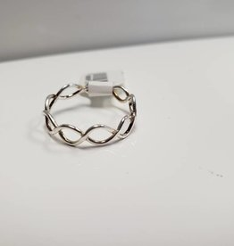 STERLING RING TWISTED BAND- SZ 7