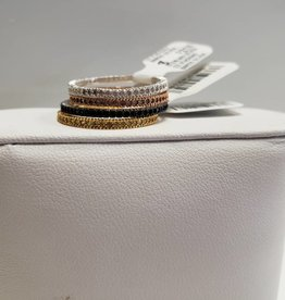 STERLING SILVER CZ STACKING BANDS