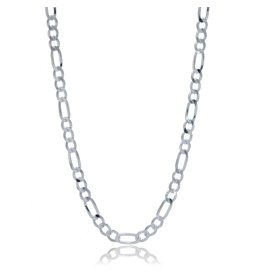 STERLING SILVER FIGARO CHAIN -18""