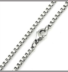 """STERLING SILVER OCTAGONAL BOX CHAIN - 18"""""""