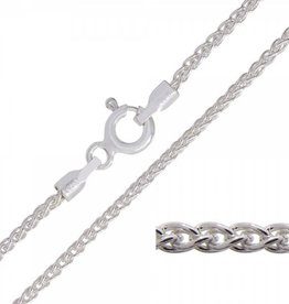 STERLING SILVER WHEAT LINK CHAIN -18""