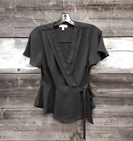 OBJECTS OF DESIRE WRAP AROUND BLOUSE BLACK