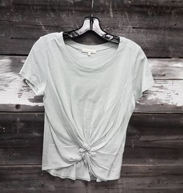 OBJECTS OF DESIRE COTTON FRONT KNOT TEE