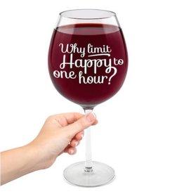 HAPPY HOUR WINE GLASS- XL