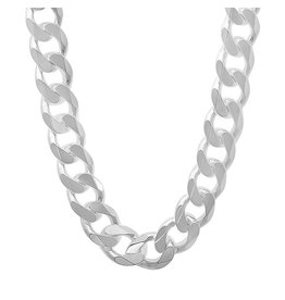 BIJOUX STERLING SILVER SQUARE CURB -20""