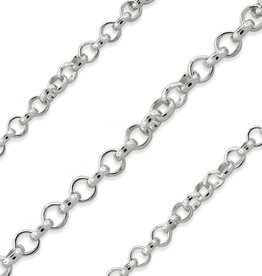 STERLING SILVER ROLO CHAIN - 20""