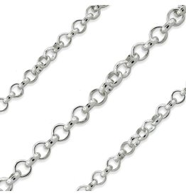 """STERLING SILVER ROLO CHAIN - 20"""""""