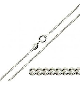 STERLING SILVER CURB CHAIN - 20""