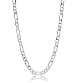 STERLING SILVER FIGARO CHAIN -20""