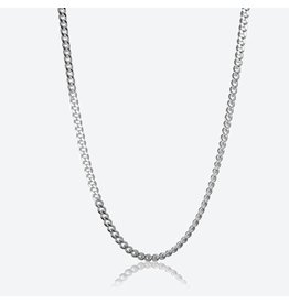 """STERLING SILVER CURB CHAIN -22"""""""