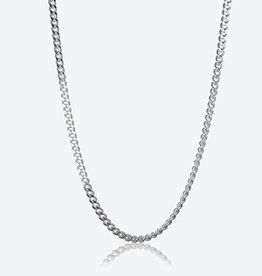 STERLING SILVER CURB CHAIN - 22""