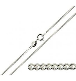 """STERLING SILVER CURB CHAIN - 22"""""""