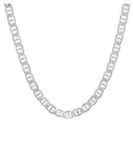 BIJOUX STERLING SILVER FANCY MARINE CHAIN -22""
