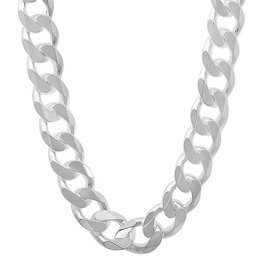 STERLING SILVER SQUARE CURB CHAIN - 22""