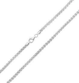 """STERLING SILVER BOX LINK CHAIN -22"""""""