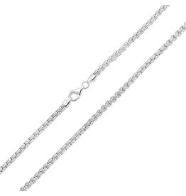 BIJOUX STERLING SILVER BOX LINK CHAIN -22""