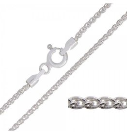 """STERLING SILVER WHEAT LINK CHAIN -22"""""""